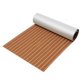 90x240cm Light Brown with White EVA Foam Teak Boat Flooring Sheet Yacht Synthetic Teak