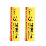 2PCS GETEED 3.7v 4800mAh 35A High Power 21700 20700 Rechargeable Li-ion Battery