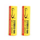 2PCS GETEED 3.7v 4800mAh 35A High Power 21700 20700 oplaadbare Li-ion batterij