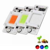 LUSTREON 50W blu / rosso / verde luce non-drive protezione contro il tuono COB LED chip per fai-da-te coltiva la luce