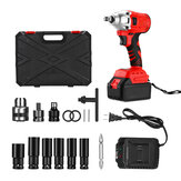 18V 1/2'' 10000mAh Brushless Cordless Impact Wrench 350Nm Electric Drilling Tool with LED Light