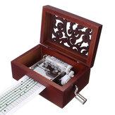 15 diy اليد مكرنك منحوتة موسيقى صندوق Classic مربع مع ثقب الناخس 30 قطع أشرطة الورق