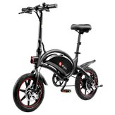 [EU Direct] DYU D3F 10Ah 36V 250W 14in Folding Moped Electric Bike 25km/h Top Speed Max Load 120kg Dual Disc Brake E-Bike