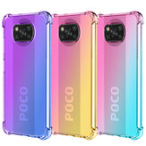 Bakeey Gradient Color with Four-Corner Airbag Shockproof Translucent Soft TPU Protective Case for POCO X3 NFC Non-original