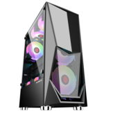 GAMEKM ATX Tower Computer Gaming Caso Wide-Shaped Special-Shaped Water Cooling Desktop Soporte M-ATX / ITX Motherboard para PC