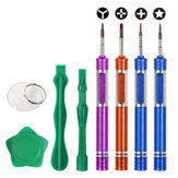 Bakeey Precision Screwdriver Set Plastic Pry Suction Cup Repair Tool Kits for iPhone Xiaomi Non-original