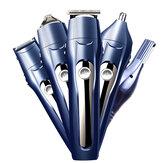 12 em 1 Multifuncional Cabelo Clipper Navalha Corpo Cabelo Cortador Trimmer Trimmer Elétrico Com 4Pcs Limitando Pentes Base