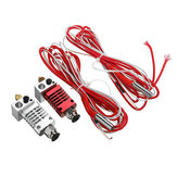 V6 1.75mm All Metal Silver/Red J-Head Hotend Remote Extruder Kit with Heating Tube for CR10/CR8 3D Printer