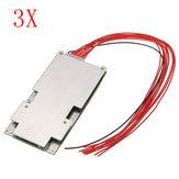 3 pcs 37 V 42 V 10 S 45A Li-ion Bateria Placa de Proteção BMS PCB Sistema
