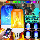 E27 6W Smart APP bluetooth LED Vlameffect Gloeilamp 4 Modi Colorful Lamp voor Indoor Home Decoration AC85-265V
