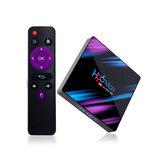 H96 MAX RK3318 4GB RAM 64GB ROM 5G WIFI bluetooth 4.0 Android 9.0 10.0 VP9 H.265 4K TV Caja Soporte Youtube 4K