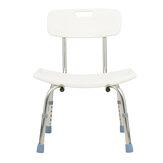 Verstelbare veiligheidsdouchestoel Zitbank met verwijderbare badkuip-badstoel voor ouderen Gereedschapsvrije montage