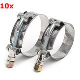 10pcs in acciaio inox T-Bolt Morsetti Clip per Turbo del silicone tubo flessibile accoppiatore
