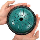 HLURU 5.5'' Steel Tongue Drum 6 Notes Handpan Tankdrum Yoga Instrument With Bag&Mallets