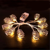 Батарея Powered Silver Fanoos Lantern 10 LED String Holiday Light для исламского Ида Рамадана