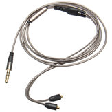 1.28M Replacement Audio Cord Cable with Mic for Shure SE215 315 535 846 UE900 Headphone