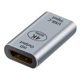 Adaptador Tipo-C para HD DP Conector USB-C Fêmea para HD DP1.4 Fêmea Conversor 4K @ 60HZ Video Extender para MacBook Notebook