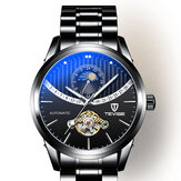 TEVISE 8378F Skeleton Date Display Automatic Mechanical Watch Full Steel Men Wrist Watch