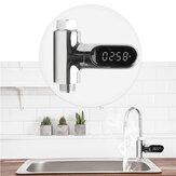 [Upgrade versie] V2 Waterdouche Thermometer LED Celsius Fahrenheit Tijdweergave Flow Zelfgenererende elektriciteit Watertemperatuurmeter