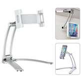 Telefone de mesa pull-up tablet titular stand 2 em 1 flexível preguiçoso suporte ajustável 360 rotação de montagem para cama viva cozinha