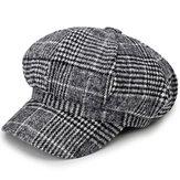 Cotton Leisure krantenverkoper baretten Caps Plaid Stripe Hats