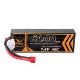 ZOP Power 7.4V 6000mAh 45C 2S Lipo Batterie T Plug für RC Car
