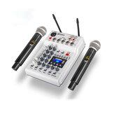 DEBRA MM-02 Multifuncional USB bluetooth mixer placa de som 2 canais UHF microfone sem fio Suprrot USB card Reader