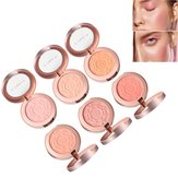 6 colores rosa Maquillaje Face Blush Brighten Face Fine Powder