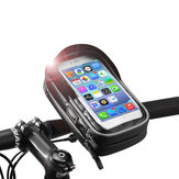 ROCKBROS B31-BK 6.0 Inch Rainproof TPU Touch Screen Bicycle Phone Bag Handlebar Bag MTB Frame Pouch Case