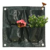 4 kapsy Domů Zahradní balkonky Rostlinné tašky Závěsný kvetináč PE Závěsný sáček na růst