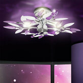 Современное искусство LED Потолок Лампа Люстра Хрустальные листья Лампа Свет для гостиной без лампы