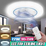 72W LED Ventilador de teto Luz Moderna Sala de estar Quarto Regulável remoto