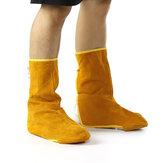 Sarı Bahçe Inek Derisi Deri Kaynak Ayaklar Ayakkabı Kapak Koruyucu Erkekler Kadın