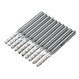 10pcs 2mm 0.08 Inch Carbide End Mill Engraving Bits For CNC/PCB Machinery Rotary