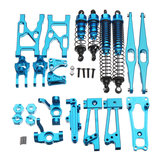 WLtoys K949 1/10 Aluminium Alloy Upgrade Logam Rc Mobil Parts Kit Warna Silver Biru Emas