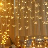 4M LED Borboletas de luz de fada Luz de corda para festa de Natal Iluminação de feriado