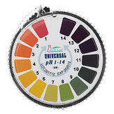 Strisce universali per test PH Rotolo completo 1-14 Indicatore Carta Tester Dispenser Color Chart 5m / 16.4 ft