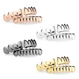 2Pcs Gold Silver Plated Custom Teeth Grill Top & Bottom