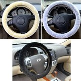 Water Cube Plush Car Steel Ring Wheel Cover Interior Grip 38CM for Winter Autumn