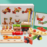 Wooden Simulation DIY Multi-shaped Nut Combo Set Boy Repair Kit Early Childhood Education Puzzle Toy