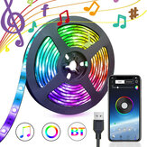 1/3/5M USB Waterpoof 5050 LED Strip Lights RGB Music Backlight bluetooth APP Remote