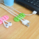 Bakeey5SlotsStickysiliconenDesktop Oortelefoon USB Organizer Kabelmanagement Houders