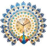 70*65cm Modern Large Peacock Wall Clock Quartz Clock Living Room Mute Home Decor