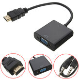 HD Port Male naar VGA Met Audio HD Video Cable Wire Converter Adapter