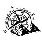 Hood Body Sticker Decal Large Compass Navigation For Camper Van Motorhome Car Boat 60x50cm