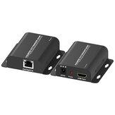 Zenhon HDMI Extender 60m HDMI CAT5e Extension de câble réseau 1080P Connecteur HDMI émetteur récepteur avec EDID T-505