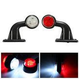2pcs 5W 10-30 LED fabricante de lado lâmpada indicadora luz talo para o reboque do caminhão camião van