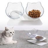 سلطانيات غير قابلة للانزلاق للقطط مزدوجة / مفرد مع حامل مرتفع طعام الحيوانات الأليفة وعاء ماء للكلب