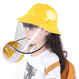 PODOM Kids Bucket Hat Protection Safety Removable Full Face Shield Protective Cover Sun Fisherman Hat