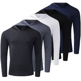 [FROM XIAOMI YOUPIN] Men's Long Sleeve Lightweight Hoodies Pullover Sweatshirts Tee Shirts Cotton V Neck Tops Tracksuit